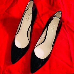 Kate Spade Black Patent Leather Vida Heel 10